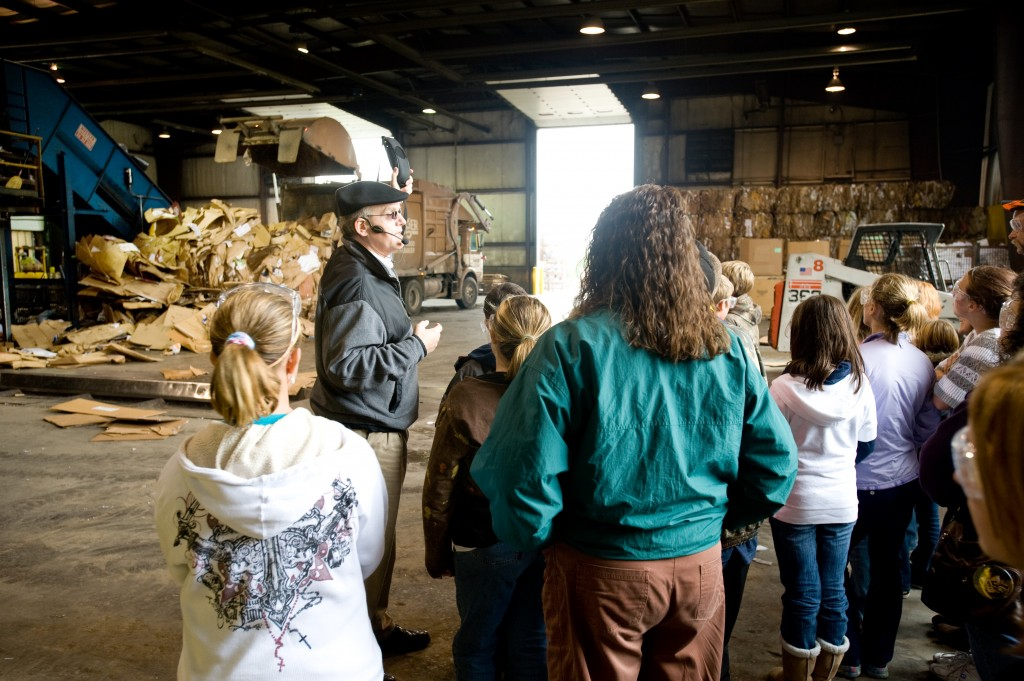 Recycling Center tour at Granger in Lansing, Michigan