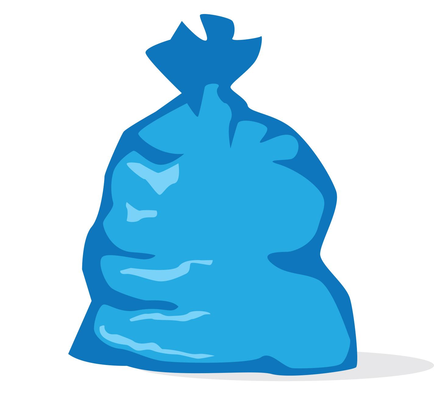 blue bag mid michigan trash   recycling granger free clip art trash can free clip art garbage can