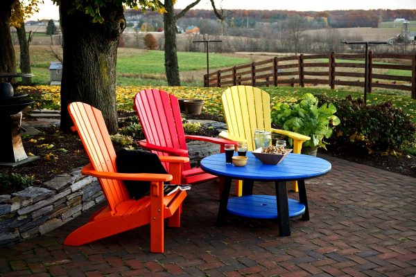 Recycled plastic can take on many forms, like outdoor furniture. Source: backyardbillys.com