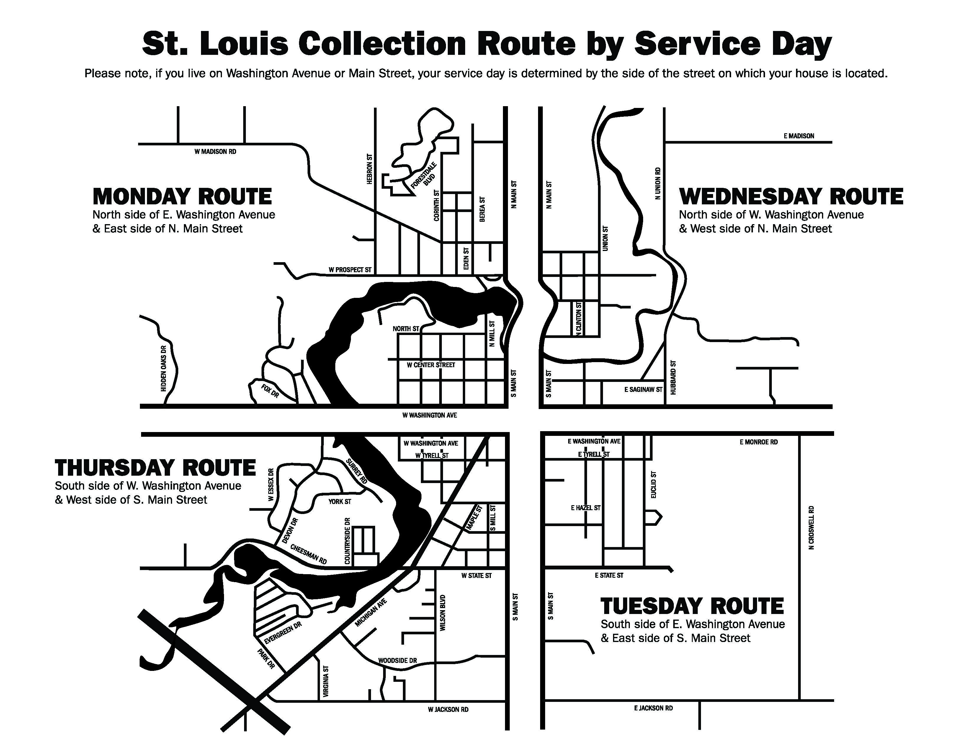 City Of St Louis Recycling Guide Mid Michigan Trash Recycling