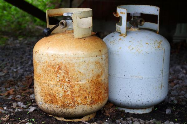Rusty Gas Bottle